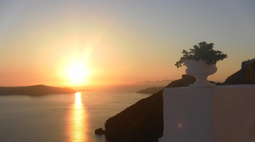Sunset over Fira