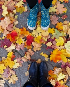 Amsterdam shoes and autumn leaves