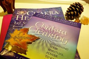 Chakra book pile
