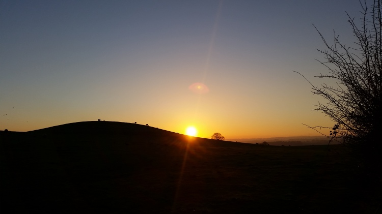 Glorious sunset 19-01-16