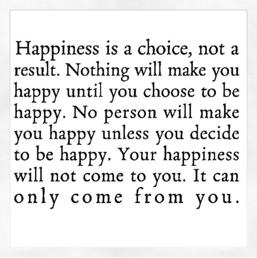 Choose to be hapy