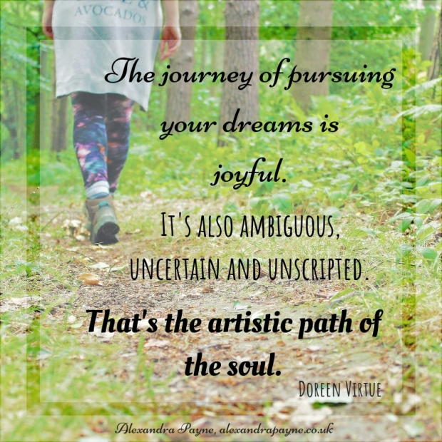 The journey of pursuing your dreams is joyful. (1)
